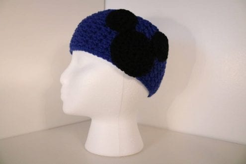 royal blue crocheted headband
