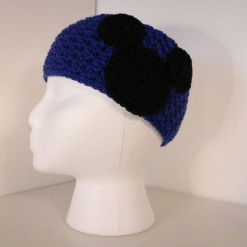 royal blue crocheted headband