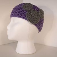 lilac crocheted headband