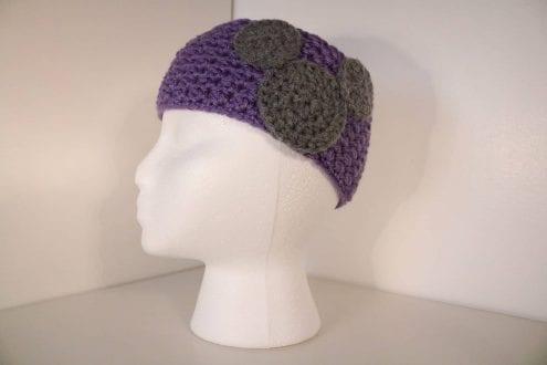 lilac crocheted headband