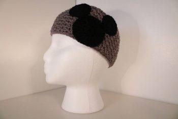 Gray crocheted headband