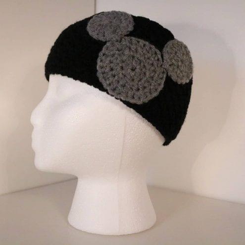 Black crocheted headband