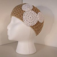 Cream crocheted headband