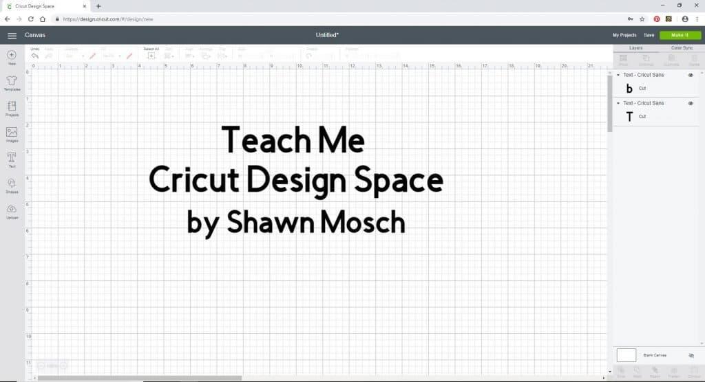Teach Me Cricut Design Space