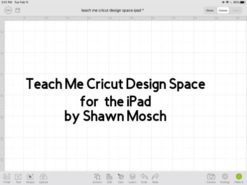 Teach Me Cricut Design Space iPad
