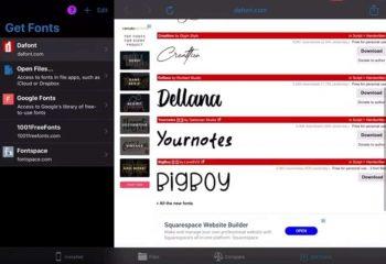 DownloadAndInstallFonts iPad