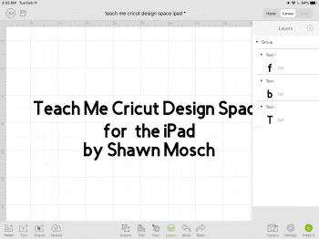 Cricut Design Space ipad layers