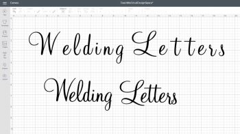 Cricut weld letter