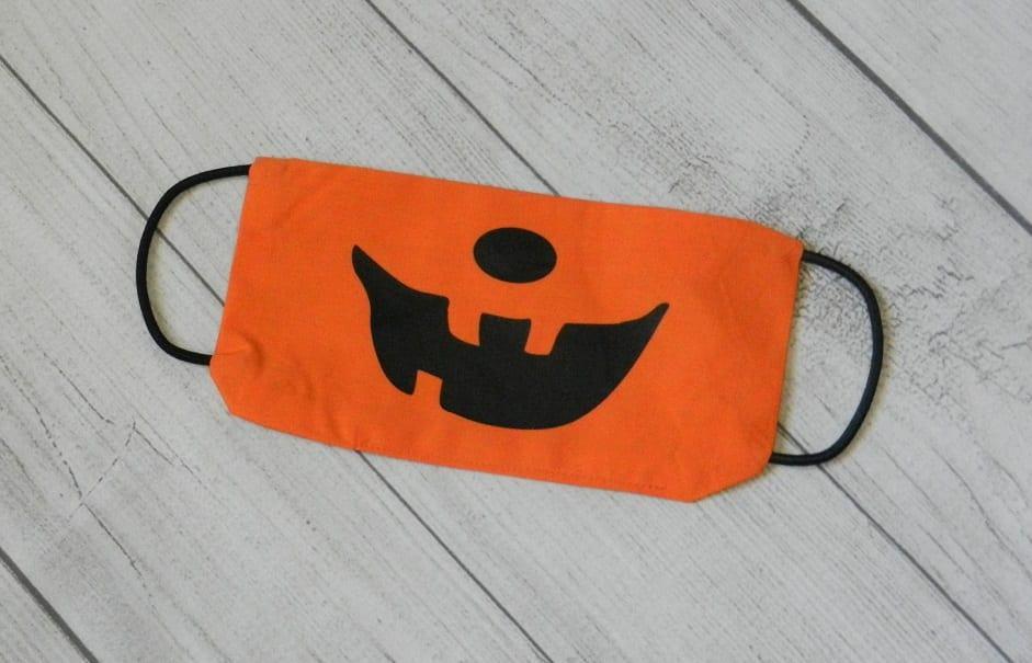 jack-o-lantern vinyl Halloween face mask