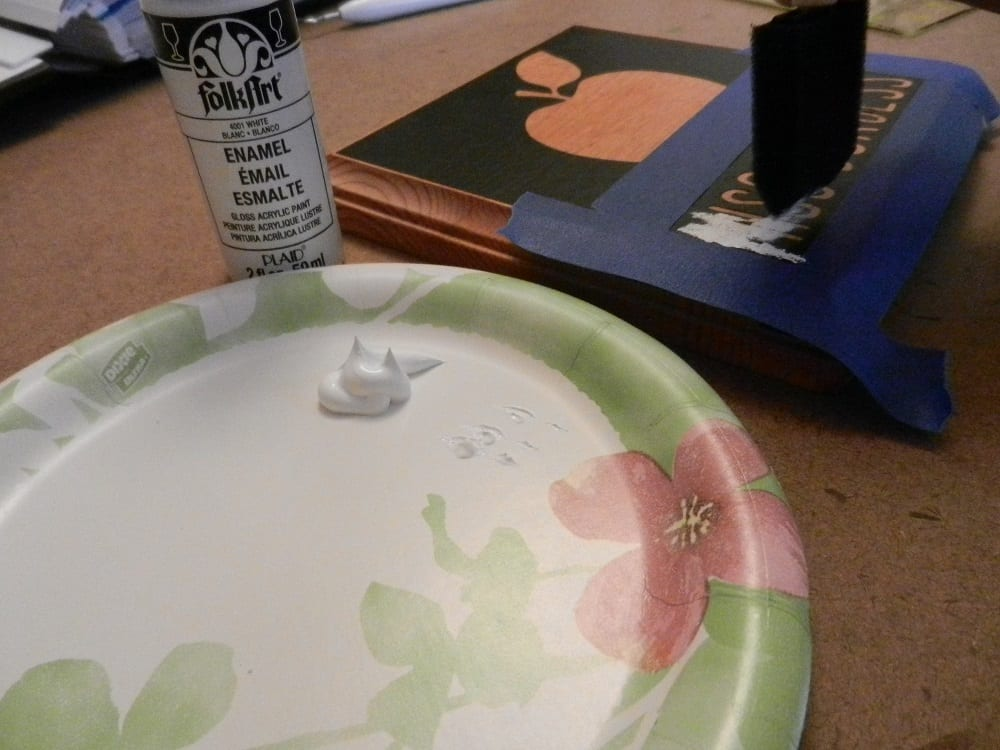 painting a stencil
