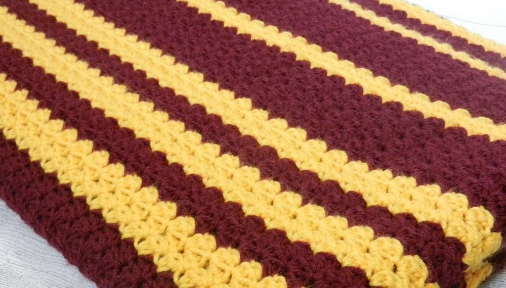 team colors hand crocheted blanket
