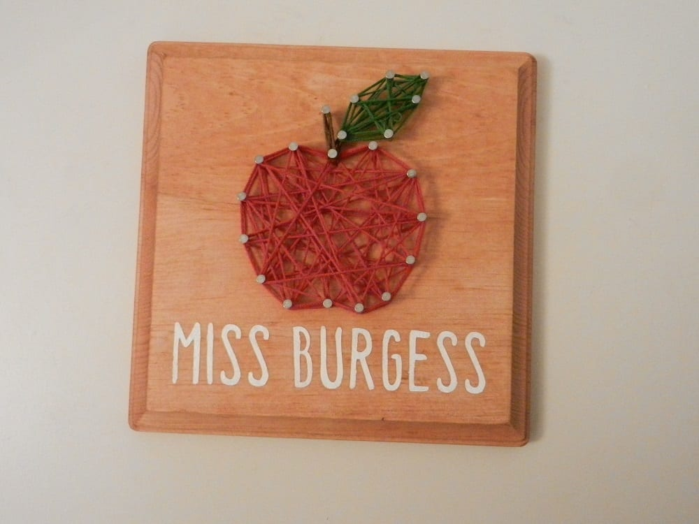 Teacher String Art with stencil