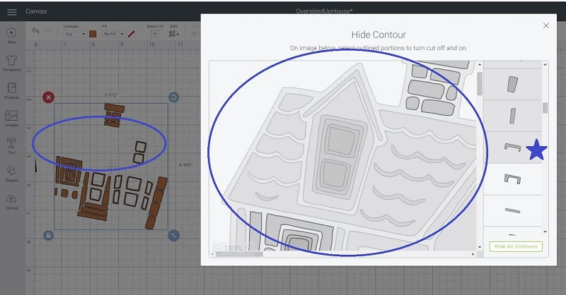 using contour to create layers in Cricut Design Space