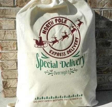 Cricut santa sack