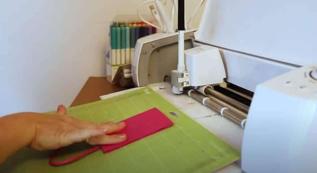 gift bag on Cricut mat