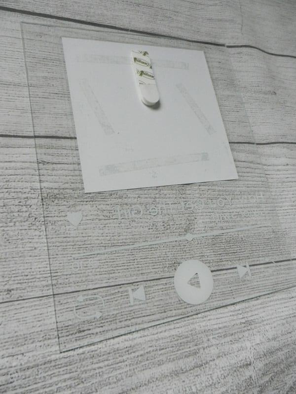 spotify glass art command strip on back