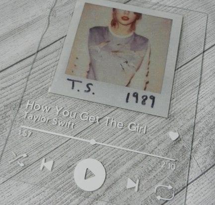 Spotify glass art Taylor Swift