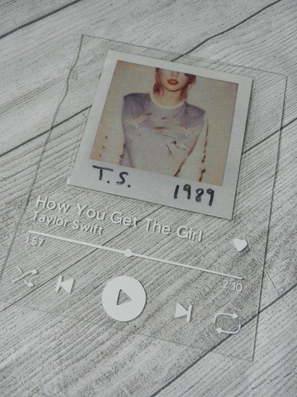 Taylor Swift Spotify glass art