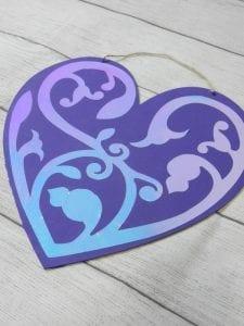 Valentine's day sign Cricut