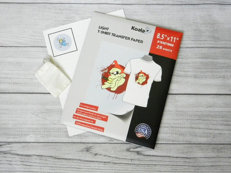 tooth fairy bag print then cut Koala Brand transfer sheet