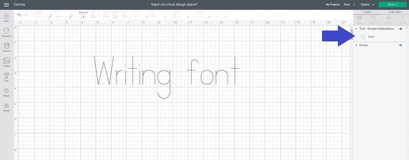 Free Cricut font writing font pen stroke thin