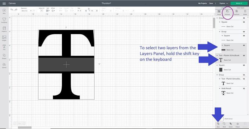 Cricut split letter monogram how to how to slice on Cricut