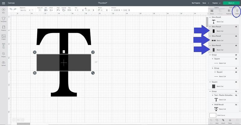 Cricut split letter monogramhow to how to slice on Cricut