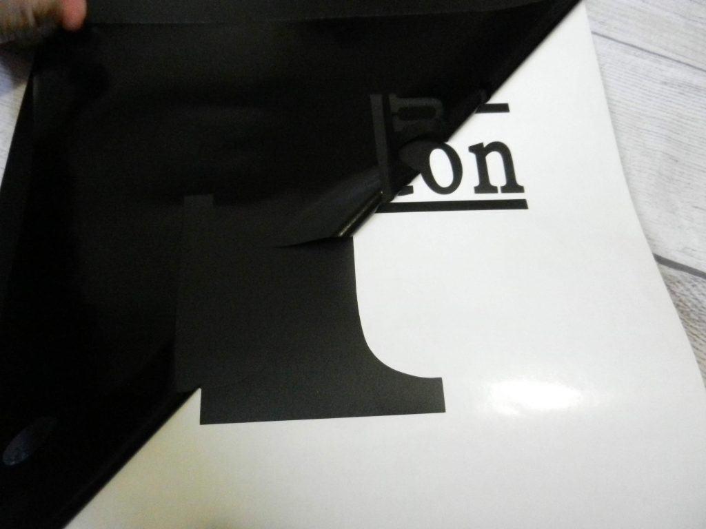 floating frame split monogram home decor