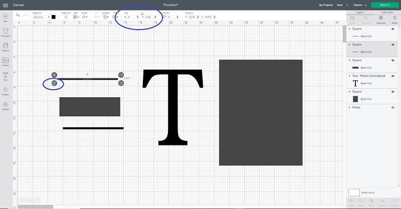 Cricut split letter monogram