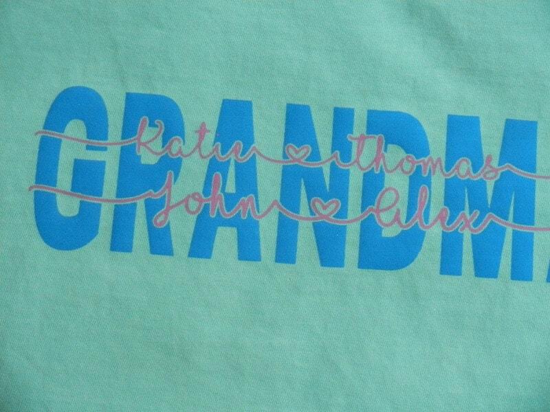 knockout text grandma shirt