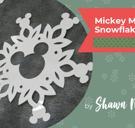 Mickey Mouse snowflake window cling