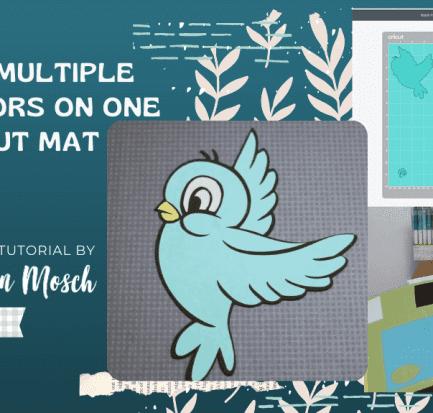 multiple colors one mat Cricut tutorial