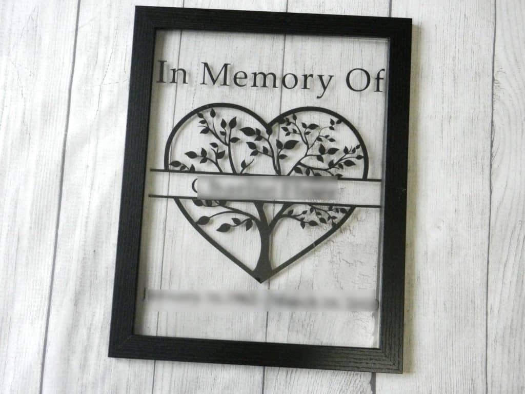 split monogram memorial project